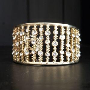 Gold colored Cuff Bracelet